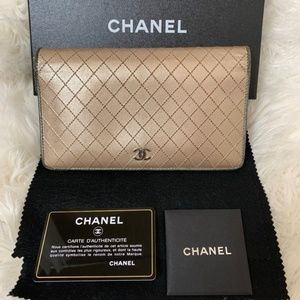 CHANEL Bicolore Quilted Matelasse CC Logo
